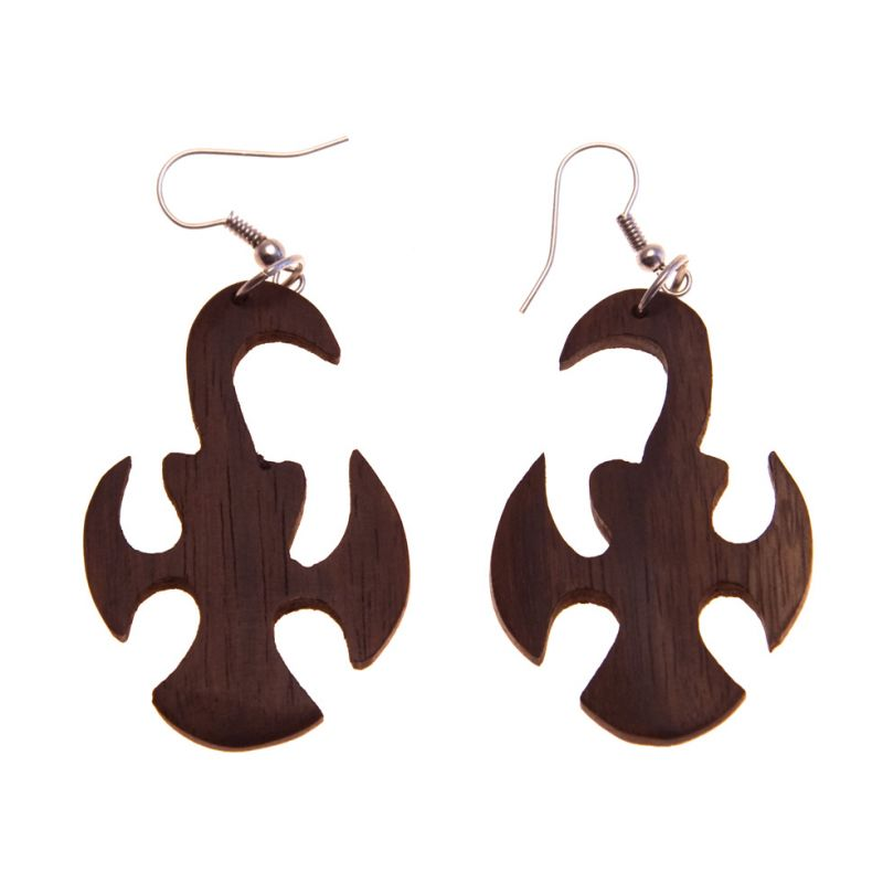 Earrings Knight Cross