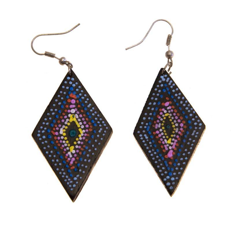 Earrings Rhombic rainbow