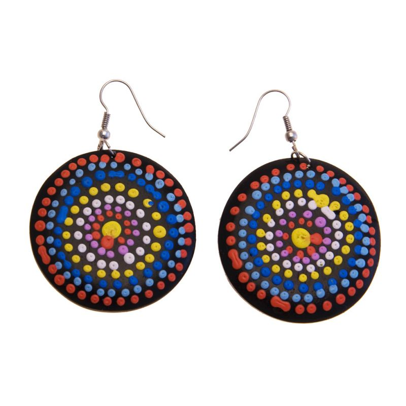 Earrings Rainbow in Circle