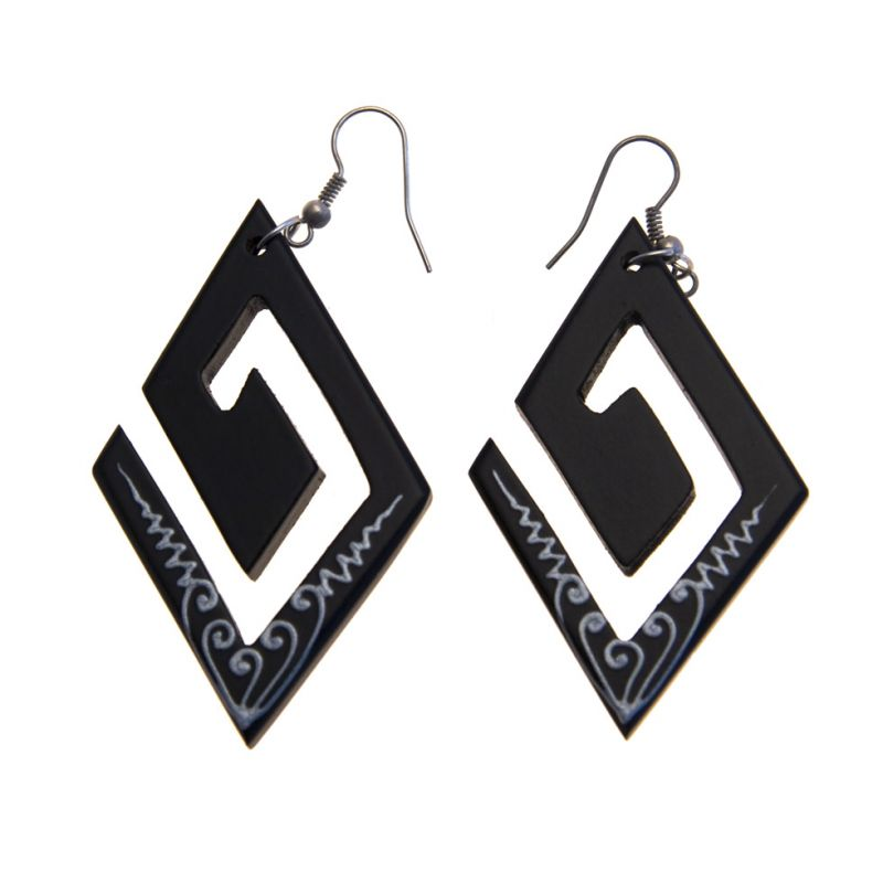 Earrings Rhombic Spiral
