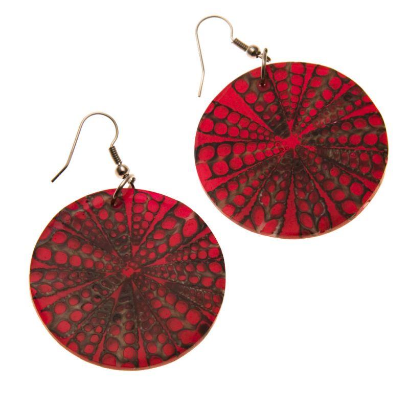 Earrings Red Sun