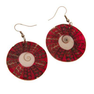 Earrings Red Halo