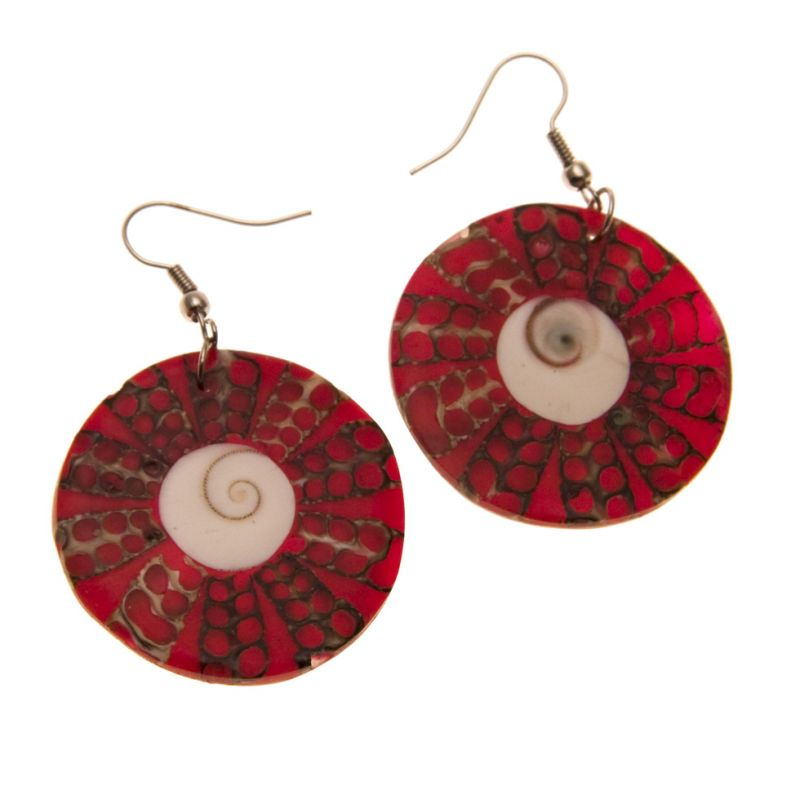 Earrings Red Halo