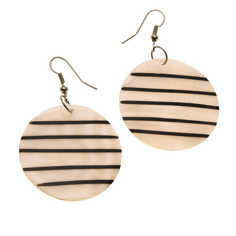Earrings Shell Bars