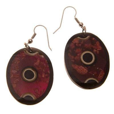 Earrings Rings in Oval