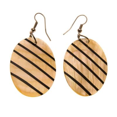 Earrings Shell Diagonals