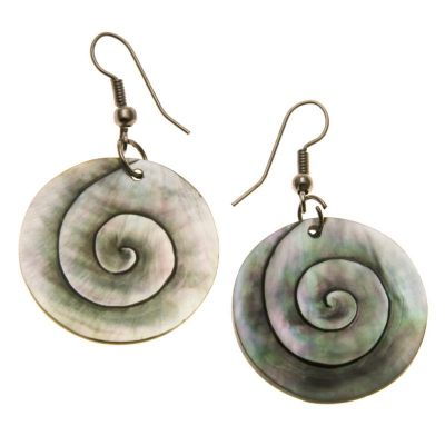 Earrings Nacreous Spiral