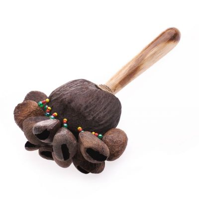 Shaman rattle with handle