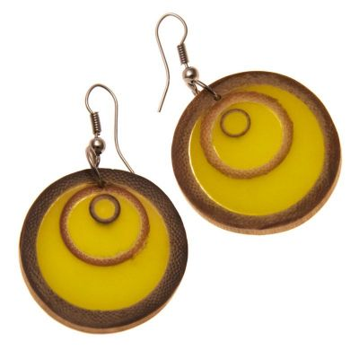 Earrings Bamboo Rings Khaki