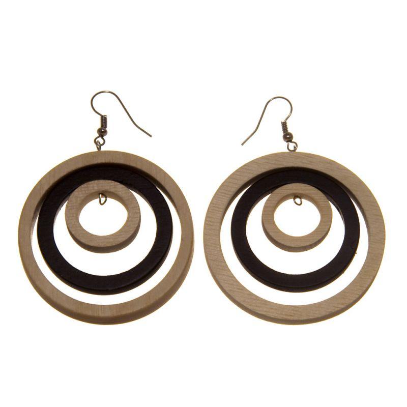 Earrings Wood Colours