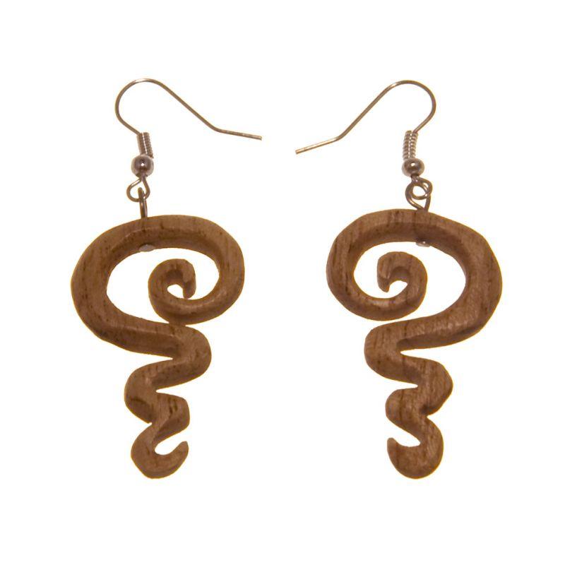Earrings Undulated Spiral