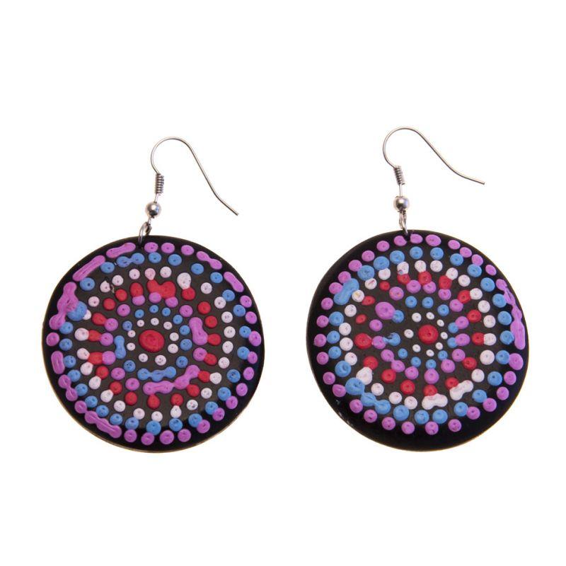 Earrings Purple Orbs