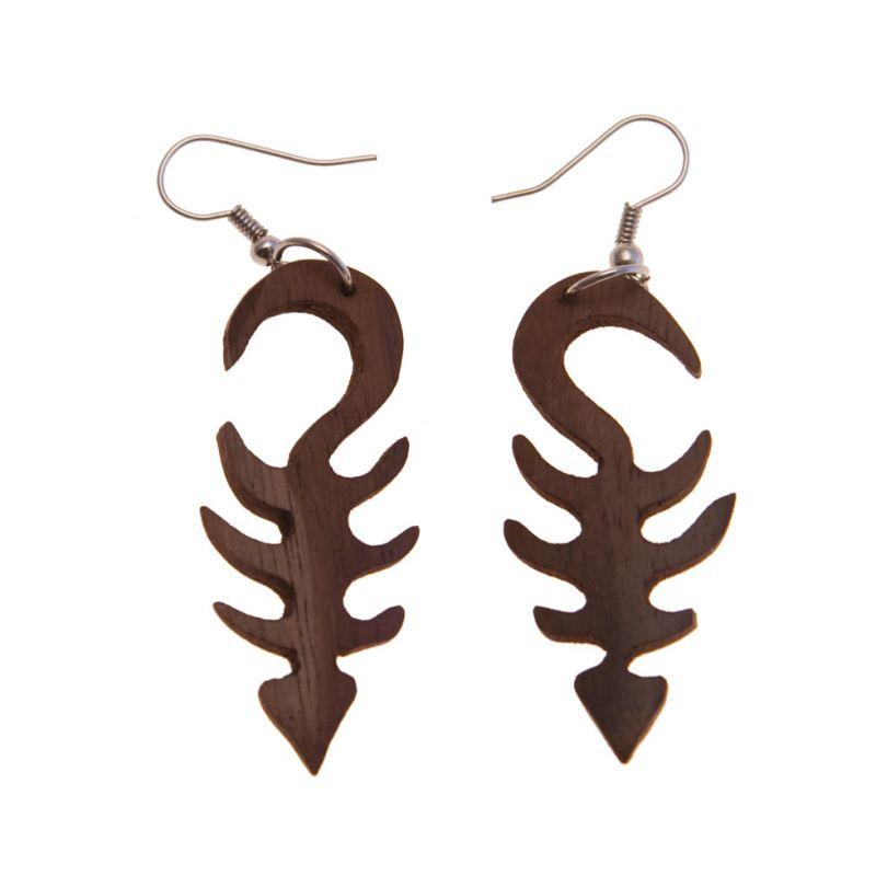 Earrings Wooden Fishbone