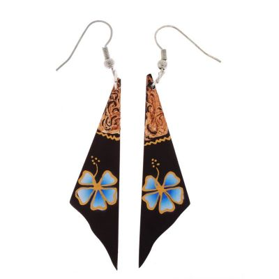 Earrings Turquoise Flower Veil