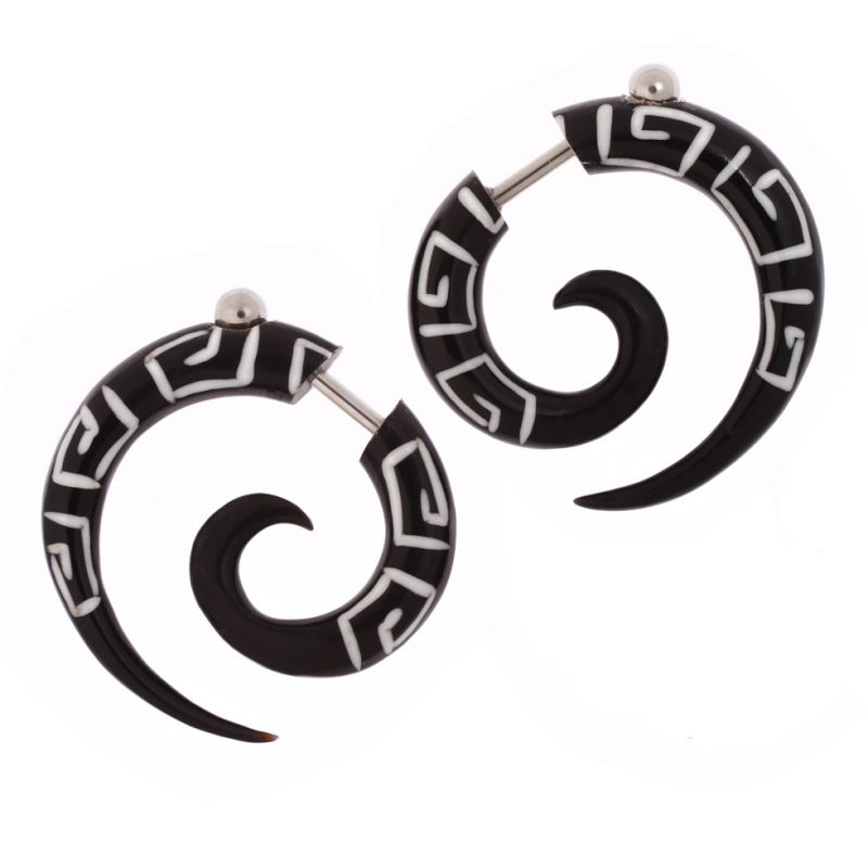 Horn earrings Roman Spirals