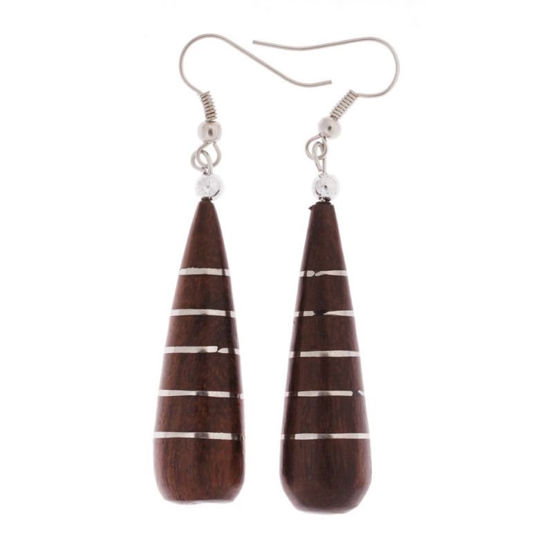 Wooden earrings Orb Cluster