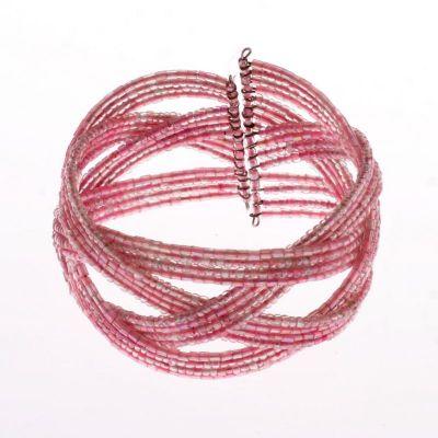 Bead bracelet Merah Muda