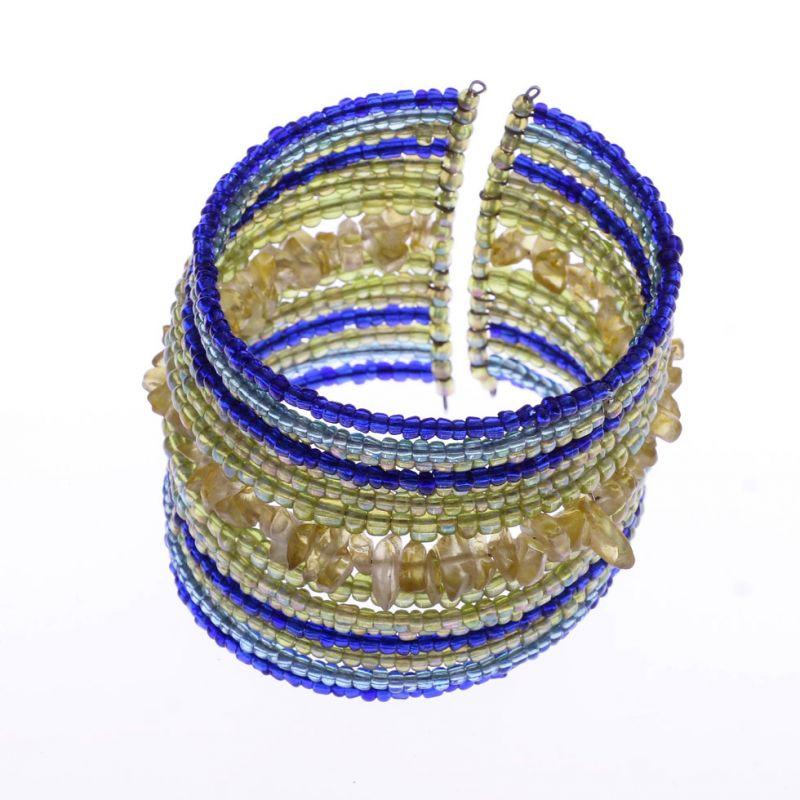 Bead bracelet Kendi Biru