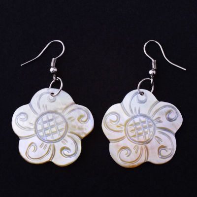 Earrings Flowers of Wisdon