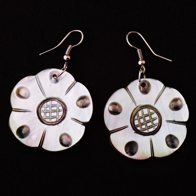 Shell earrings Flowers of Fertility