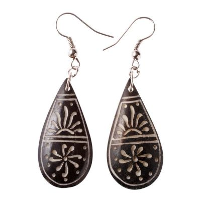 Earrings Sun in a Teardrop