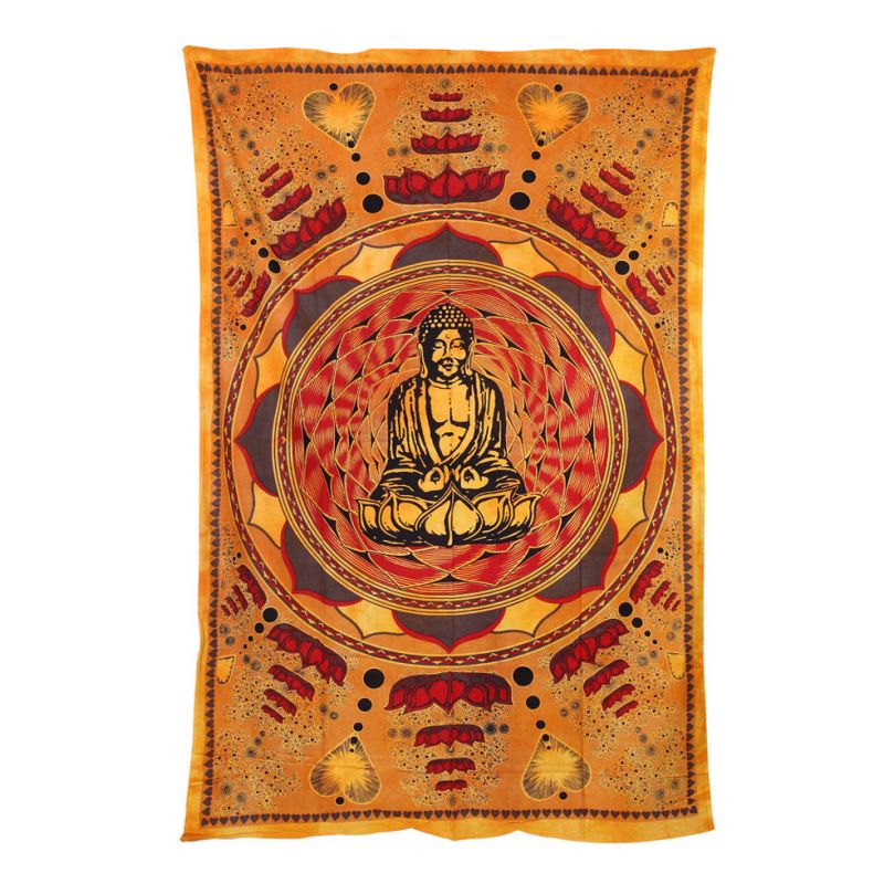 Cotton bed cover Buddha and enlightening
