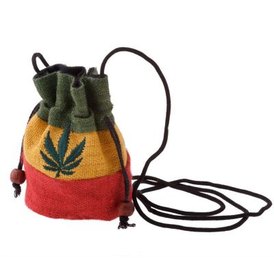 Hemp purse Holy Leaf