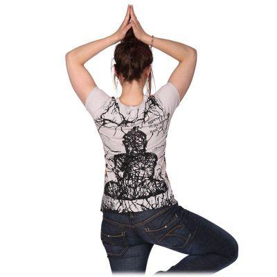 Women's t-shirt with short sleeves Mirror Buddha Beige