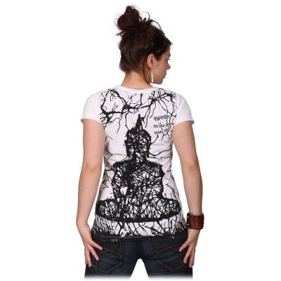 Women's t-shirt with short sleeves Mirror Buddha White
