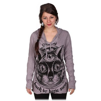 Women's hooded t-shirt Sure Cat's Insight Grey