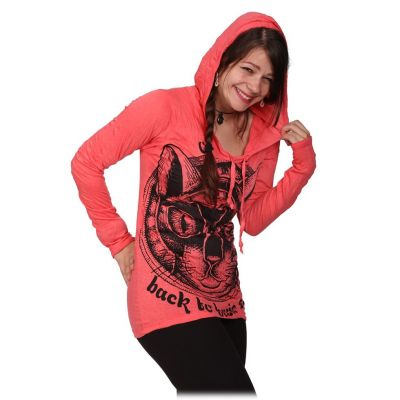 Women's hooded t-shirt Sure Cat's Insight Pink