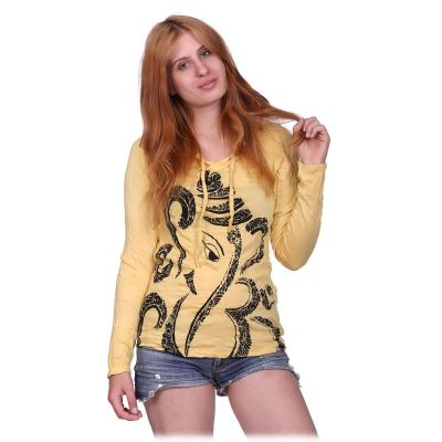 Women's t-shirt Elephant Yellow