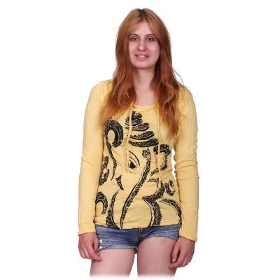 Women's hooded t-shirt Sure Elephant Yellow