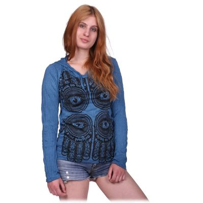 Women's t-shirt Hamsa Blue