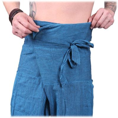 Wrap trousers - Fisherman's Trousers - turquoise Nepal