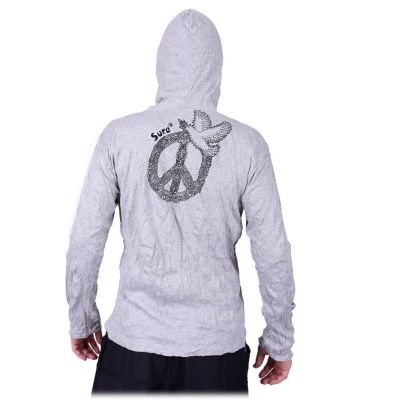 Men's t-shirt Sure with long sleeves and a hood - Dove of Peace