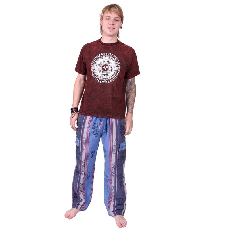 Men's ethnic trousers Gambar Blue Nepal