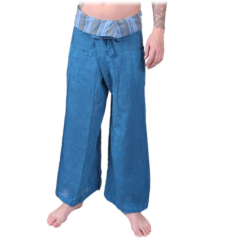Wrap trousers - Fisherman's Trousers - turquoise
