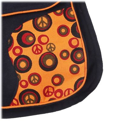 Money belt Peace Orange
