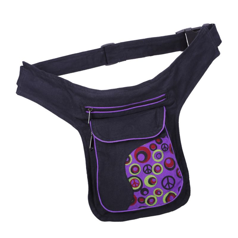 Money belt Peace Purple