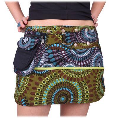 Mini wrap skirt with press studs Tiang Rimba Nepal