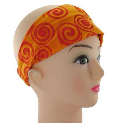 Headband Gulung Jingga