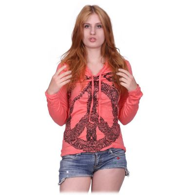 Women's hooded t-shirt Sure Dove of Peace Pink