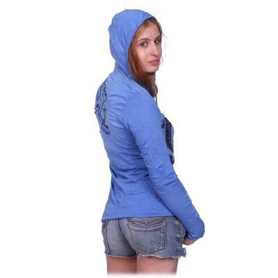 Women's hooded t-shirt Sure Elephant Blue