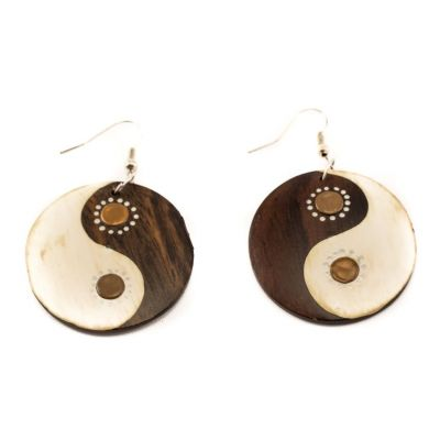 Earrings Yin&Yang - brown