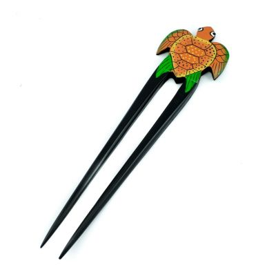 Hairpin Orange turtle