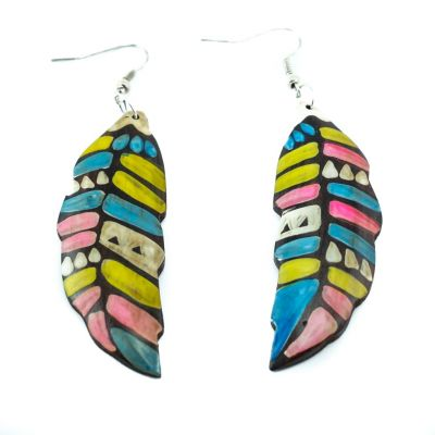 Earrings Coloured leaves