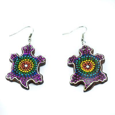 Earrings Rainbow tortoise