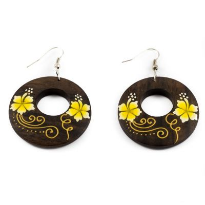 Earrings Cute flowers - yellow