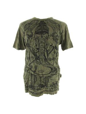 T-shirt Angry Ganesh Green